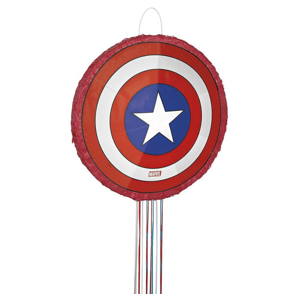 Party Bite Pinhata Escudo Capitao America Pinhatas Decoracao